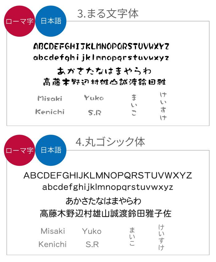 まる文字体・丸ゴシック体