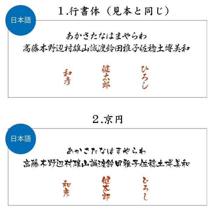行書体・京円
