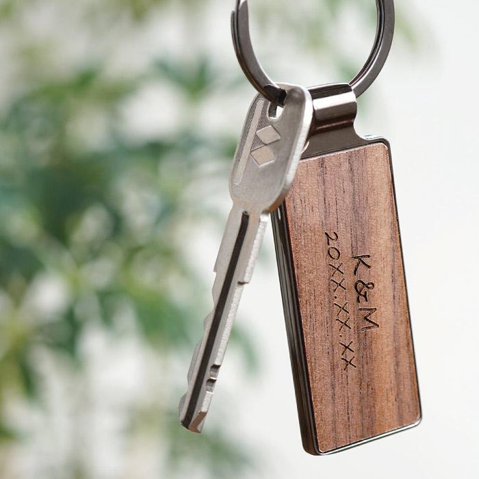名入れ木製キーリング