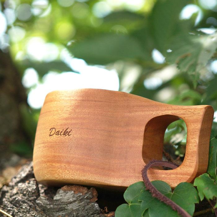 木彫りマグカップ