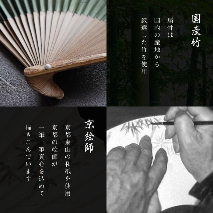 扇骨は国内の産地から厳選した竹を使用