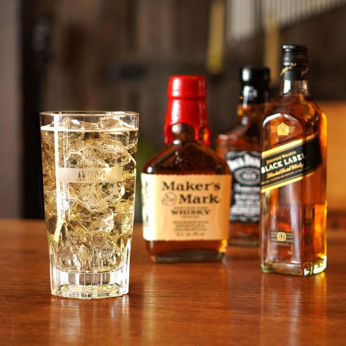 名入れグラスとウイスキーのセット