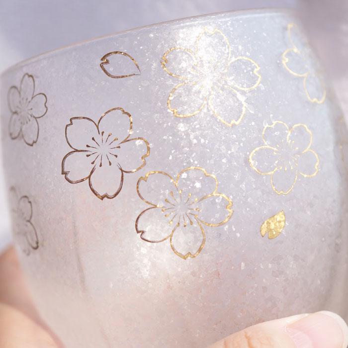 ロックカップの桜柄アップ