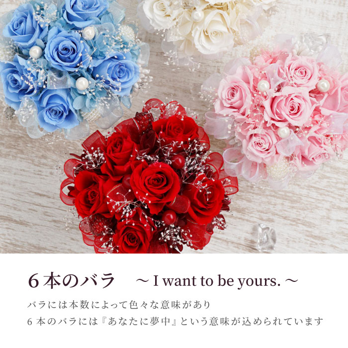 6本のバラ