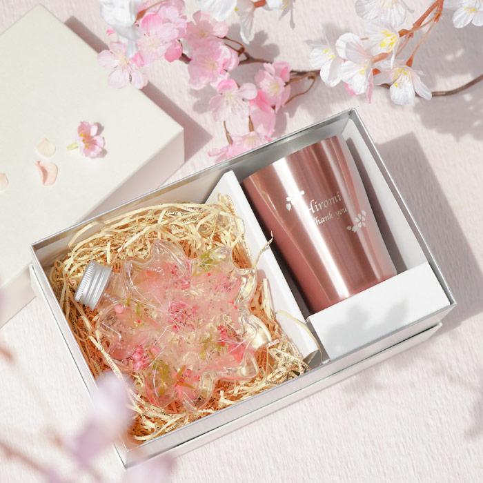 桜ハーバリウム&真空タンブラーセット