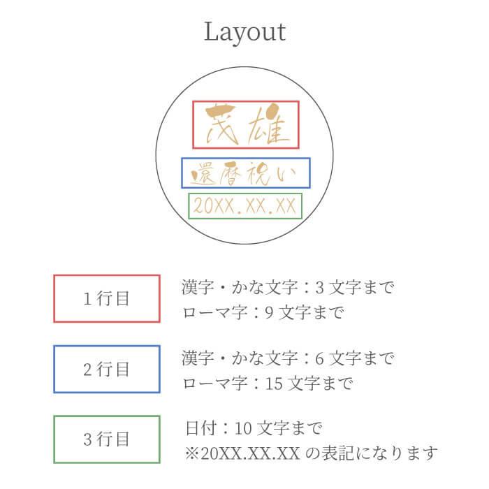 【切子グラス 菊つなぎ模様 単品】の名入れレイアウト