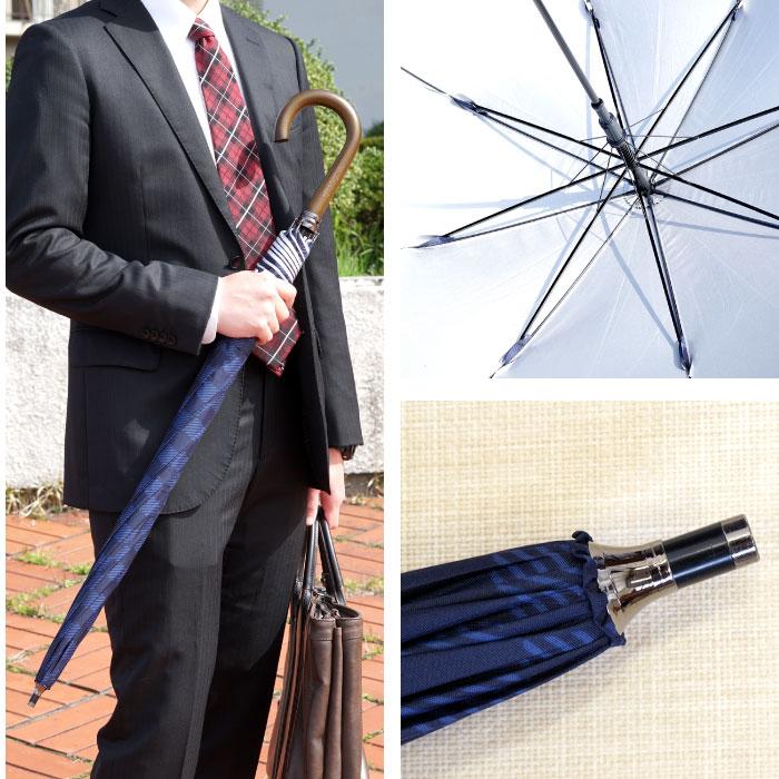 男性が日傘を持った様子