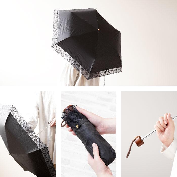 日傘を差した様子