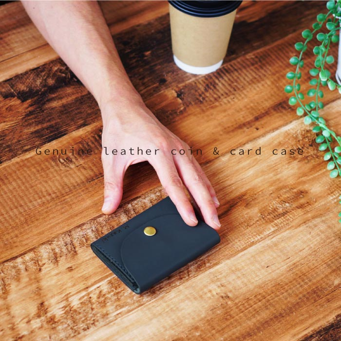 本革カードコインケース