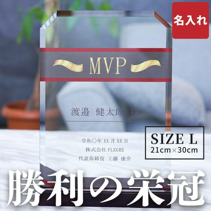 名入れ ガラス 表彰 盾 サイズ L